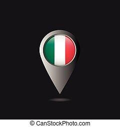 bandeira itália, ponteiro