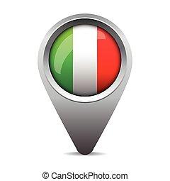 bandeira itália, vetorial, ponteiro