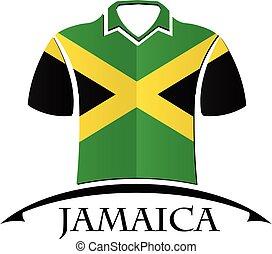 bandeira jamaica, feito, camisas, ícone