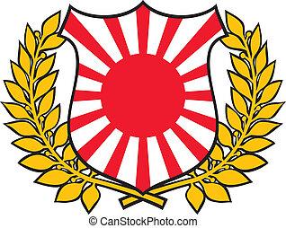 bandeira japão, emblema