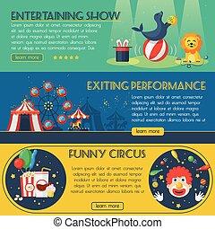 bandeira, jogo, circo