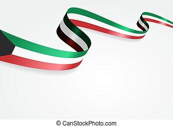 bandeira kuwait, vetorial, illustration., experiência.