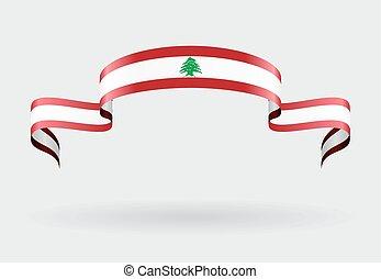 bandeira lebanese, experiência., vetorial, illustration.
