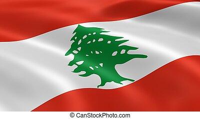 bandeira lebanese, vento
