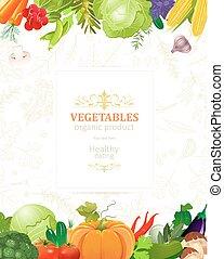 bandeira, legumes, borda, seu, desenho