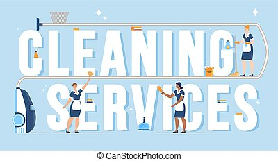 bandeira, limpeza casa, anúncio, vetorial, apartamento, companhia