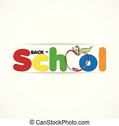 bandeira, logotipo, educação, costas, ícone, escola