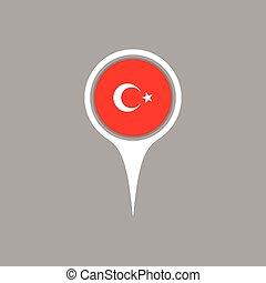 bandeira, mapa, vetorial, illustration., ícone, peru, localização