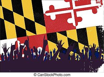 bandeira maryland, audiência, estado
