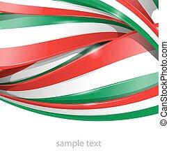 bandeira, mexicano, fundo, italiano