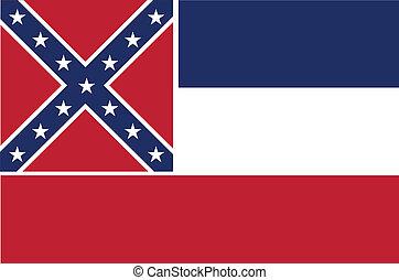 bandeira mississippi, estado
