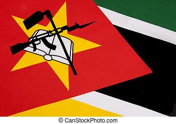 bandeira, moçambique, detalhe