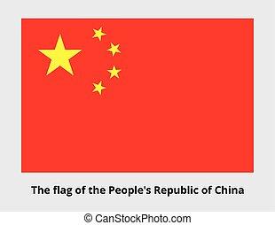 bandeira nacional, de, china
