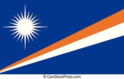 bandeira nacional, ilhas marshall