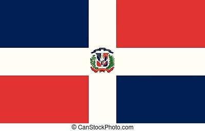 bandeira nacional, república, dominicano