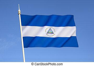 bandeira, nicarágua