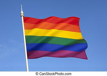 bandeira, orgulho, homossexual
