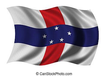 bandeira, países baixos antilhas