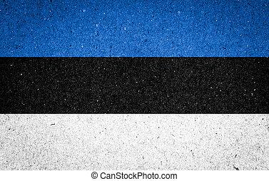bandeira, papel, estónia, fundo