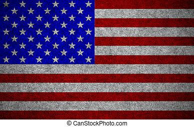 bandeira, papel, fundo, eua