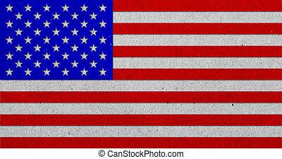 bandeira, papel, grunge, fundo, eua