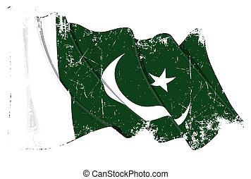 bandeira paquistanense, grunge