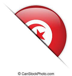 bandeira peru, lustroso, botão