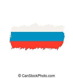bandeira rússia, vetorial, ilustração