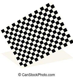 bandeira, raça, sombra, isolado, elemento, branca, correndo