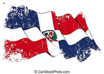 bandeira república dominican, grunge