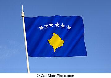 bandeira, república, kosovo