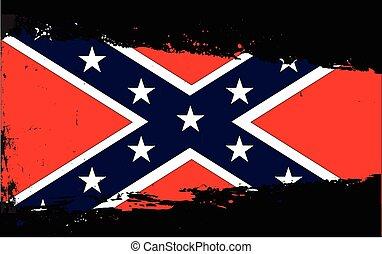 bandeira, respingo, confederado