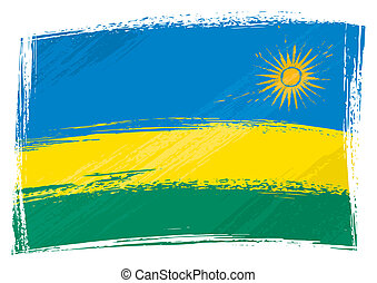 bandeira, ruanda, grunge