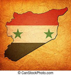 bandeira síria, território