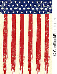 bandeira, scrathed, eua