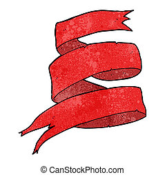 bandeira, scroll, caricatura