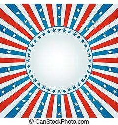 bandeira, spangled, estrela