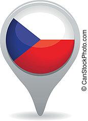 bandeira tcheca, ponteiro