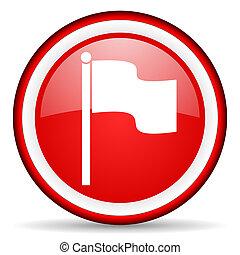 bandeira, teia, ícone