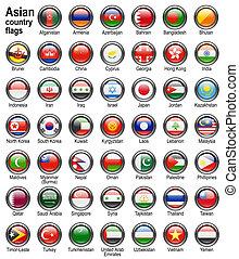 bandeira, teia, botões