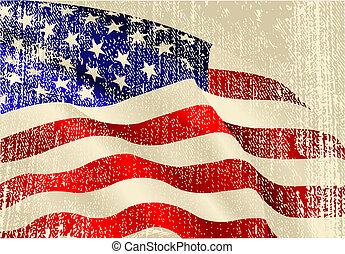 bandeira, tema, eua