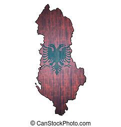 bandeira, território, albânia