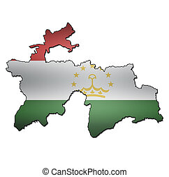 bandeira, território, tajikistan