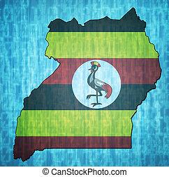 bandeira, território, uganda
