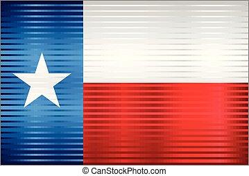 bandeira, texas, brilhante, grunge