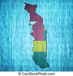 bandeira togo, território
