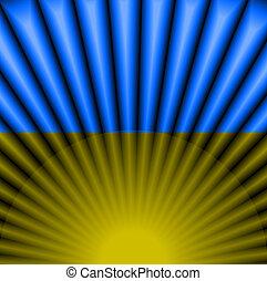 bandeira ukrainian, cor, ., abstratos, luz, fundo