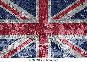 bandeira união, ligado, um, parede, fundo