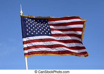bandeira, unidas, américa, estados
