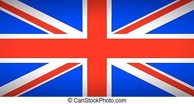 bandeira, unidas, kingdom.